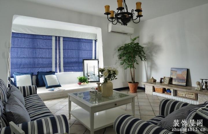 地中海式风格室内卷帘装饰图片