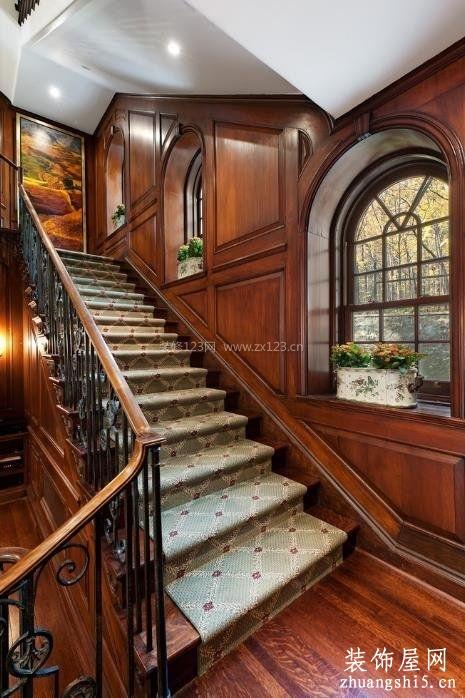 125平米房子別墅室內樓梯裝修圖