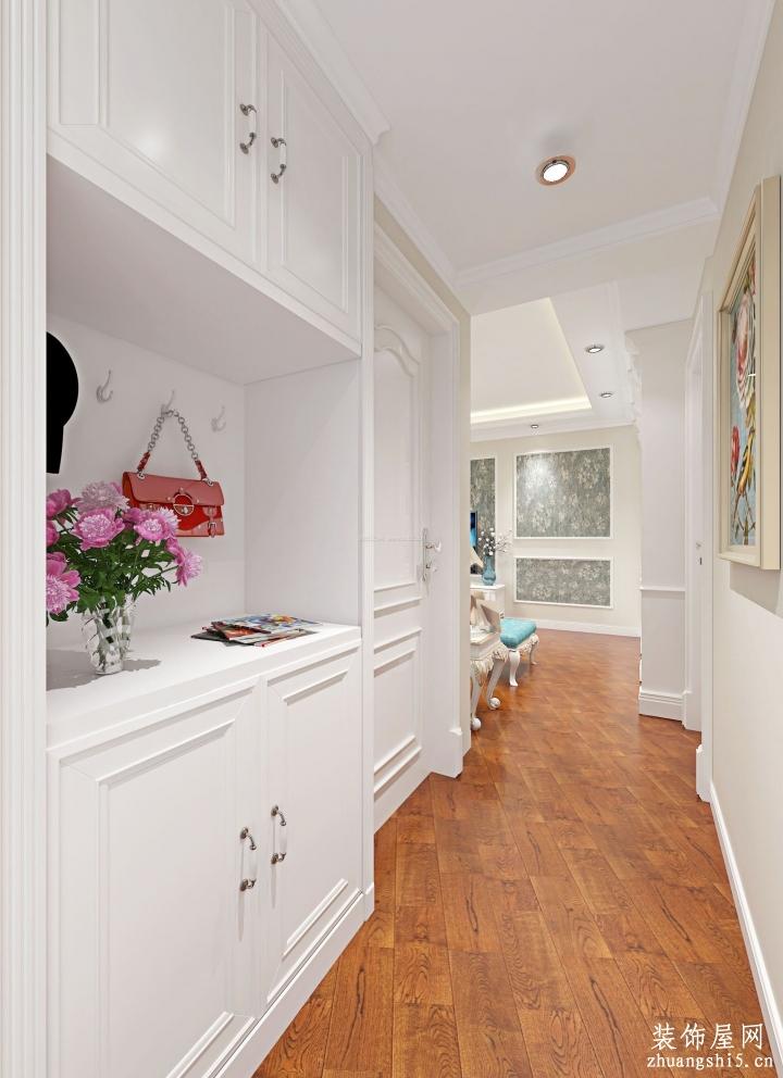 欧式风格室内进门鞋柜玄关设计效果图