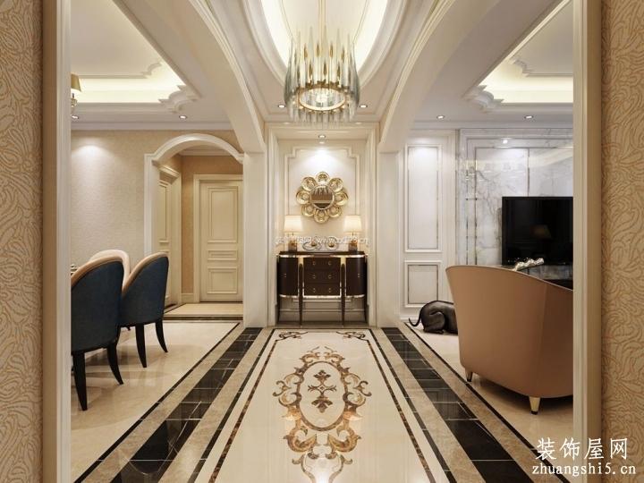 法式别墅室内拼花地板高清贴图