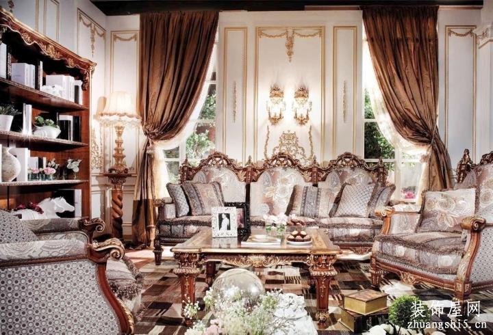 室内客厅洛可可风格家具图片大全