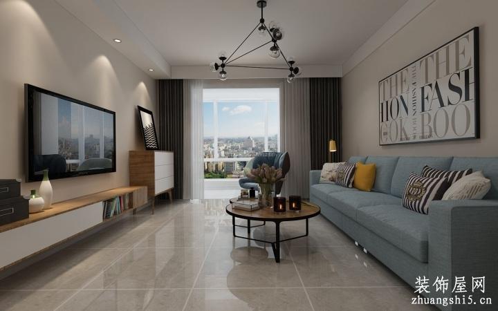 简约北欧风格室内客厅装潢设计装修效果图